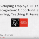 Developing employABILITY as metacognition opportunities for learning, teaching and research